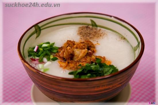 Cháo ngao trứng muối giúp trị viêm tuyến tiền liệt, chao ngao trung muoi-mon ngon de lam