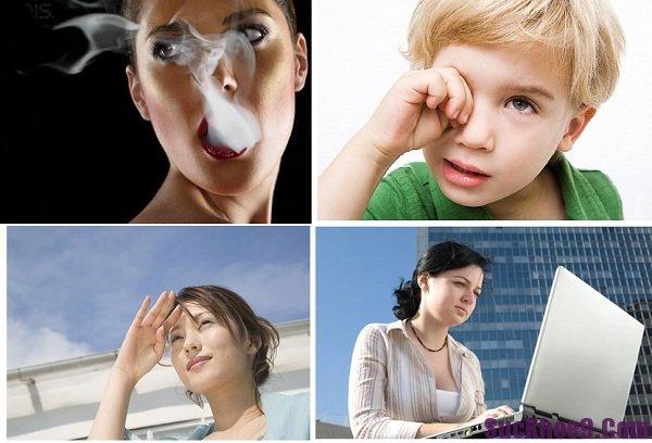 Những tác nhân có hại cho mắt